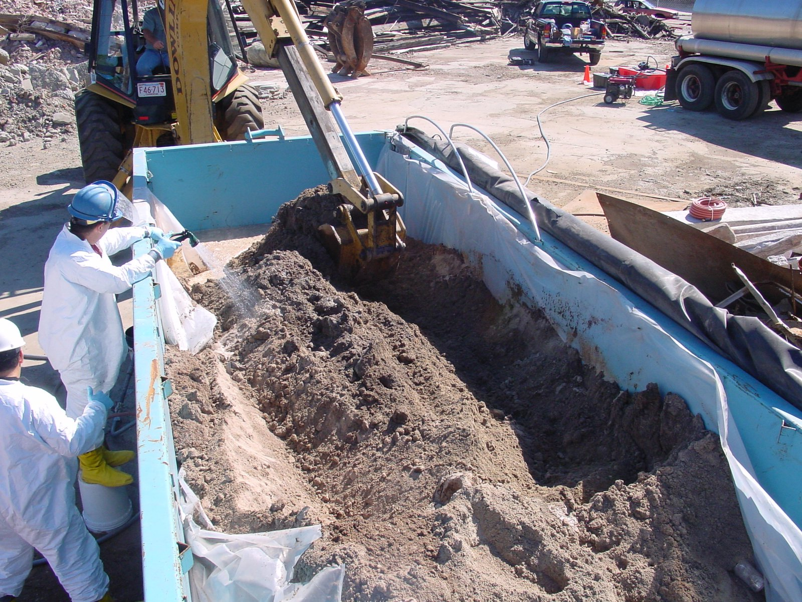 Chemical fixation for contaminated soils